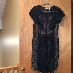 Anthropologie black dress size 10P